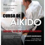 Curso Aikido – Sensei Vicente Borondo 5º Dan Aikikai