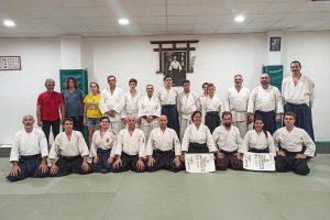 Entrega grado Dan del Hombu Dojo  Japon